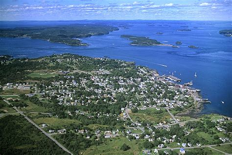 Towns In Usa airphoto aerial photograph of eastport maine rte 190