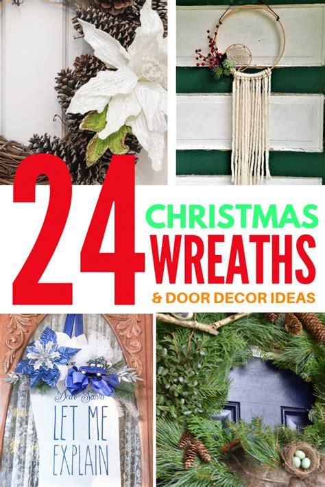 christmas wreaths  door decor ideas add  wreath