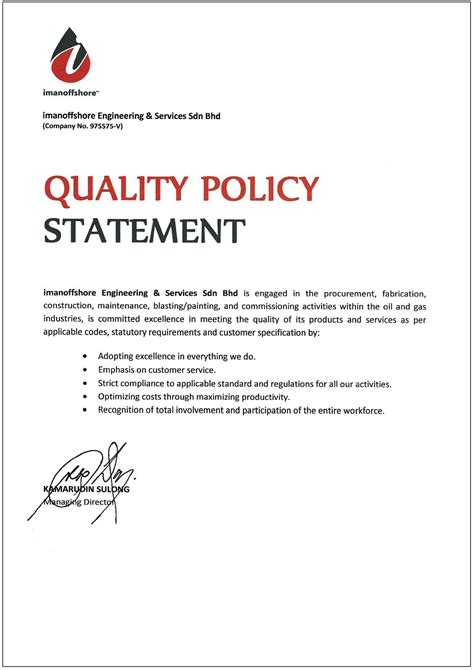 best photos of quality policy statement quality policy