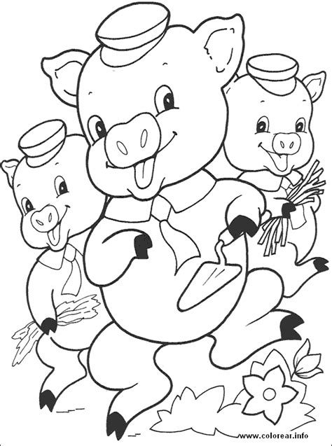 free coloring pages of wolf three little pigs