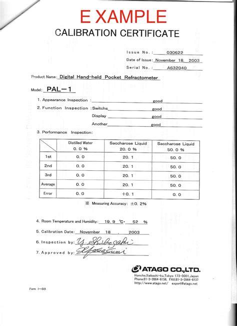 pressure calibration certificate template certificate calibration template image collections