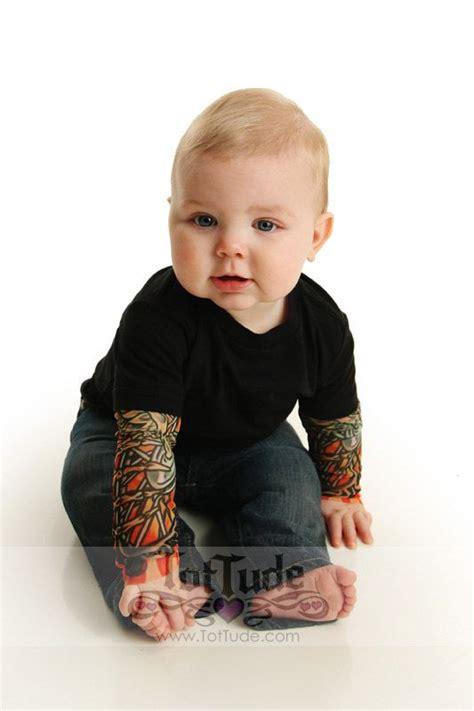 baby tattoo sleeves black bodysuit onesie sleeve shirt for babies
