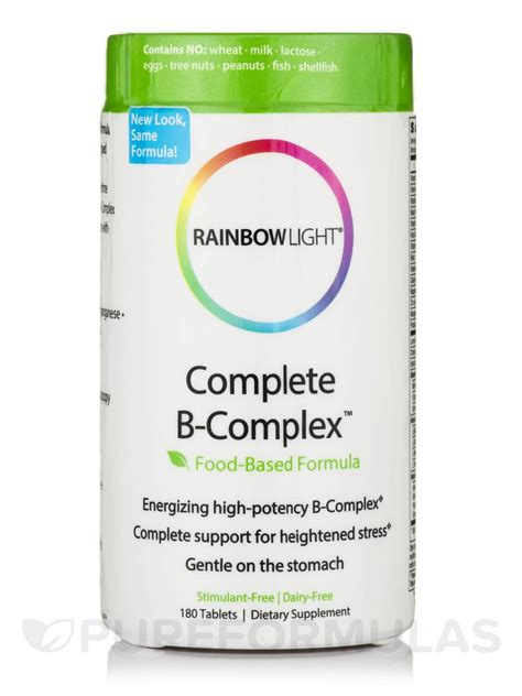 rainbow light b complex complete b complex 180 tablets
