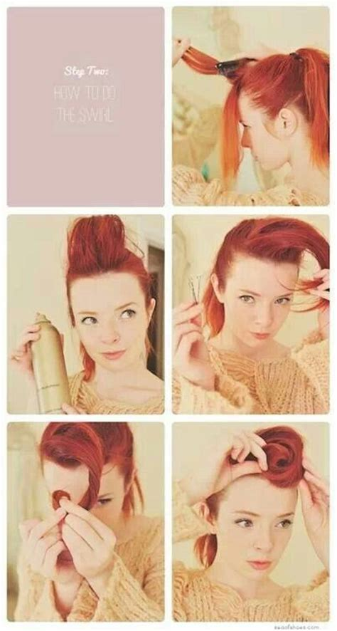 1950s step by step hairstyle step by step victory roll vintage hurrrr pinterest