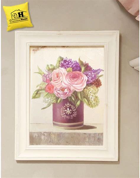 fiori shabby quadro con cornice vaso fiori shabby chic blanc mariclo