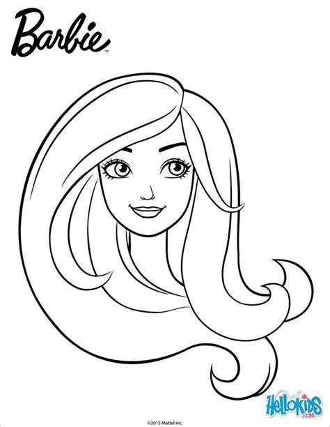 barbie head coloring page 21 barbie coloring pages free printable word pdf png