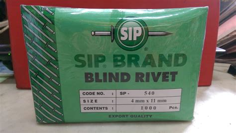 Paku Rivet 3 2mm X 9 5mm jual paku rivet sp 540 merek sip box isi 1000 pcs paku