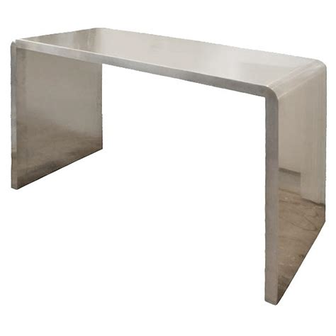 stainless steel sofa table eccola s custom stainless steel console tables at 1stdibs
