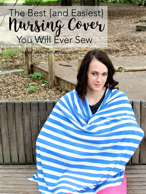 the best and easiest nursing cover you will sew