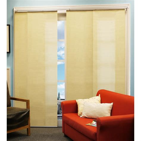 sliding curtain panel chicology 174 french primrose double rail sliding panel