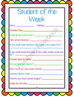 student of the week template student of the week award certificates a template of