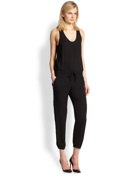 Fashion Perspective Model Debate Its Not All Fashions Fault Second City Style Fashion by Theory Lortan Silk Drawstring Jumpsuit In Black Blk Lyst