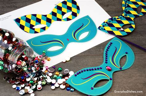 How To Make A Mardi Gras Mask Out Of Paper - printable mardi gras mask everyday dishes diy