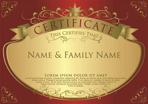 elegant certificate template vector design 10 vector