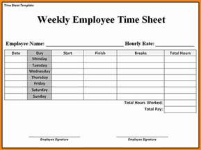 5 job timesheet template ledger paper