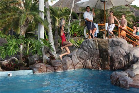 pool rope swing latikasinha arya jumping off the tarzan rope swing into