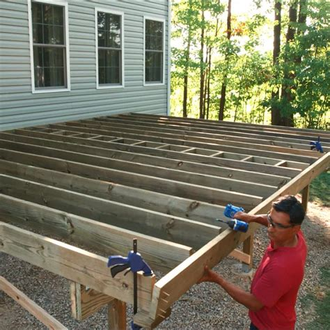 build  deck post holes  deck framing