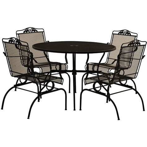 wrought iron patio furniture set furniture arlington house wrought iron chair walmart