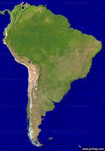 satellite map of south america primap continental maps