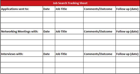 job tracking sheet gallery
