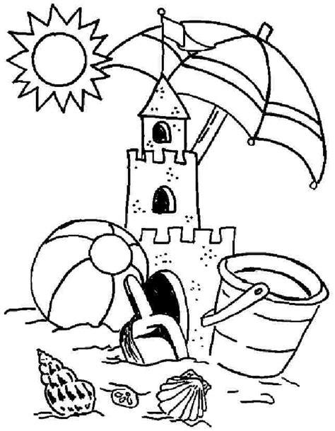 preschool summer coloring page getcoloringpages com