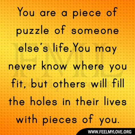 10 Pieces Of That Youll by Puzzle Quotes About Quotesgram