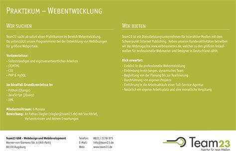 Bewerbung Anschreiben Design Praktikum Praktikumsplatz Webmasterpro De Webentwicklung Und Programmierung Entwicklung Tutorials
