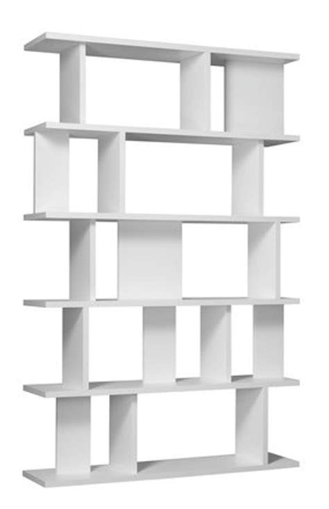 attractive white book shelf to change the living room decor