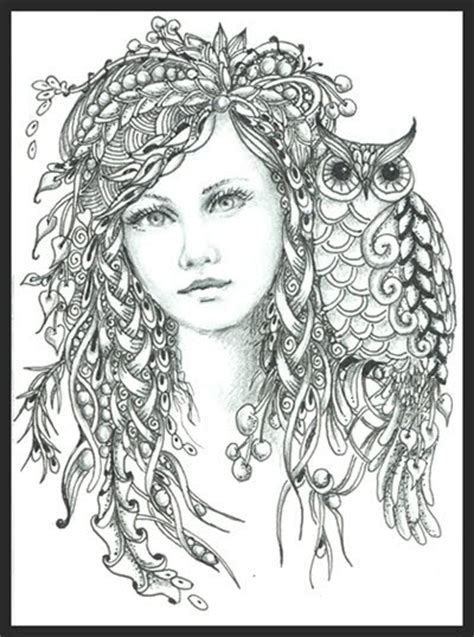 intricate owl coloring pages fairy of the forest norma j burnell czt coloring pages