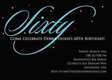 invitation for 60th birthday custom 60th birthday invitation by nattysuedesigns1 on etsy