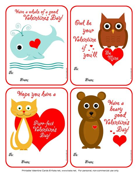 Valintines Printable Cards
