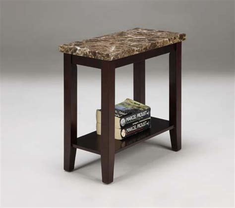 faux marble end table faux marble top chair side end table in espresso finish