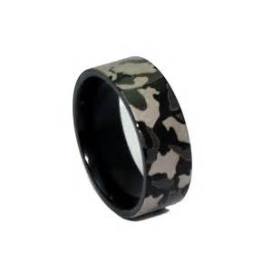 black wedding band 1 camo black ring laser engraved camouflage wedding band