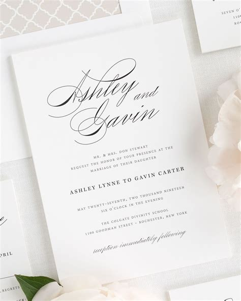 Wedding Invitation Script timeless script wedding invitations wedding invitations