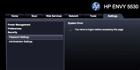 resetting hp envy 5530 printer hp envy 5530 administrator and password hp support forum