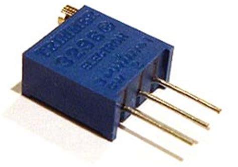 1k variable resistor pin configuration 1k ohm trimmer trim pot variable resistor 3296 west florida components