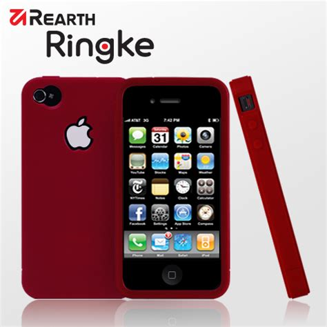 Rearth Iphone 4s Ringke rearth silikonskal till iphone 4 wine themobilestore