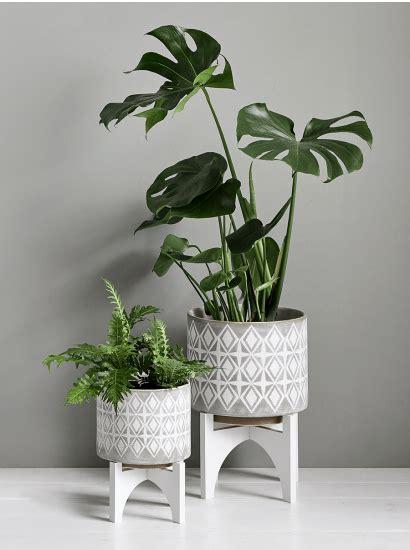 geometric standing planters plantas de interior