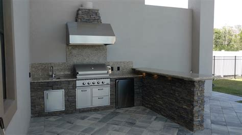 Outdoor Kitchen Creations by 100 Outdoor Kitchen Creations Orlando Outdoor Kitchen Using Cultured Ledge And Granite
