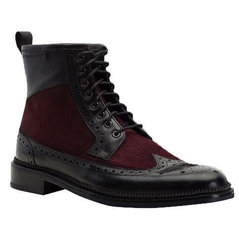 brogue boots goodwin smith mens pendleton burgundy black brogue boots
