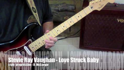 stevie ray vaughan love struck baby  guitar tablature youtube