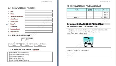 contoh proposal usaha  business plan
