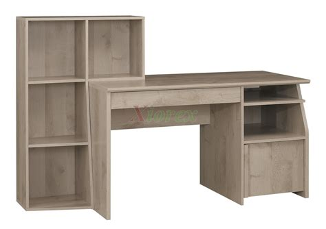 l shaped desk with bookshelf home student desk gami timber student desk for children