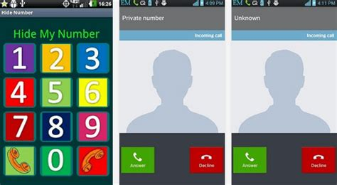 how to hide number on android apps to hide caller id in android