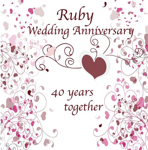 Ruby Anniversary Wedding by Hs04 Happy Anniversary Ruby Anniversary Design
