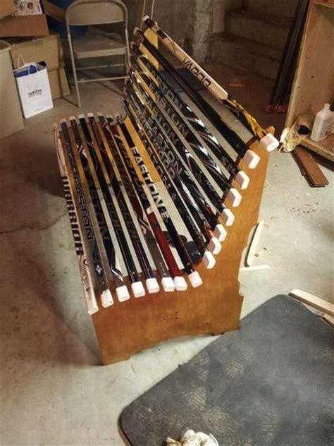 hockey stick bench hockey sticks hockey and benches on pinterest