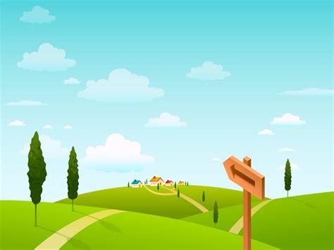 wallpaper cartoon landscape vector landscape and business concept vol 02 1024x768 no