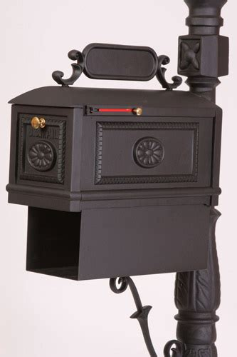better mailboxes mailbox with paper box black residential curbside