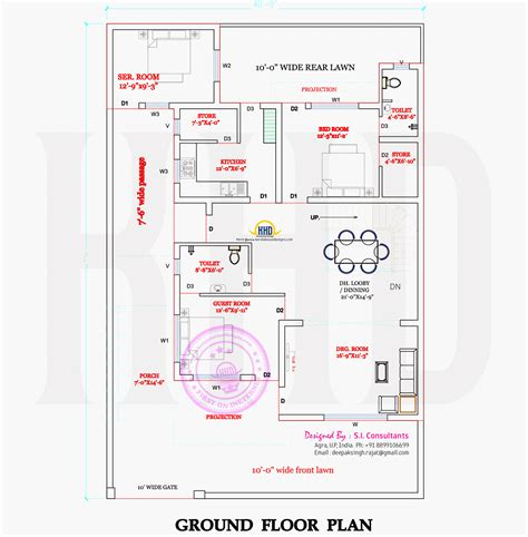 ground and first floor plans modern indian house in 2400 square feet home kerala plans