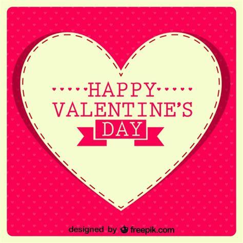 imagenes q digan feliz dia de san valentin mensaje de feliz d 237 a de san valent 237 n en coraz 243 n retro